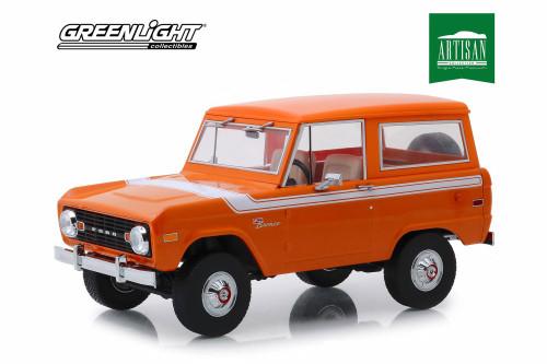 1977 Ford Baja Bronco Special Decor, Orange - Greenlight 19058 - 1/18 scale Diecast Model Toy Car