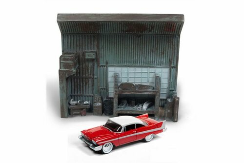 1958 Plymouth Fury, red w/ white - Round 2 JLDR002/24 - 1/64 Scale Diecast Model Toy Car