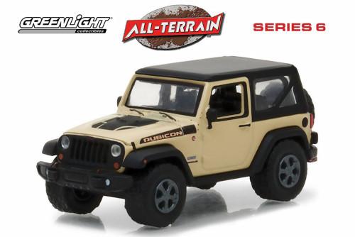 2017 Jeep Wrangler Rubicon Recon, Beige - Greenlight 35090E/48 - 1/64 Scale Diecast Model Toy Car