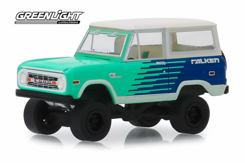 1976 Ford Bronco, Falken Tires - Greenlight 30080/48 - 1/64 scale Diecast Model Toy Car