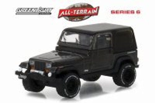 1990 Jeep Wrangler, Black - Greenlight 35090D/48 - 1/64 Scale Diecast Model Toy Car