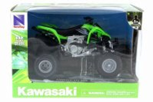 Kawasaki KFX 450R ATV, Green w/ Black - New Ray 57503S - 1/12 Scale Vehicle Replica