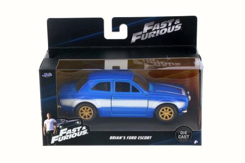 1974 Brian's Ford Escort RS2000 MKI Hard Top, Blue - Jada 97188 - 1/32 Scale Diecast Model Toy Car