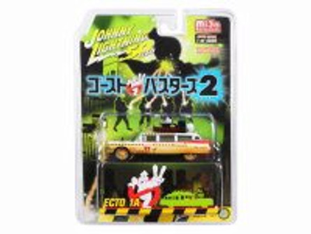 1959 Cadillac Eldorado Ambulance Ecto-1A (Dirty Version) (Japanese Retro Packaging), Ghostbusters II - Johnny Lightning JLCP7204-24 - 1/64 scale Diecast Model Toy Car