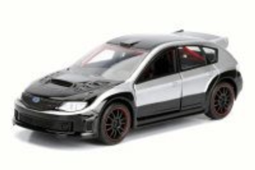 F8 Brian's Subaru Impreza WRX STI Fate of the Furious, Black - Jada 98674DP4 - 1/32 Scale Diecast Model Toy Car