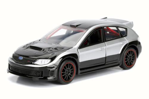 F8 Brian's Subaru Impreza WRX STI Fate of the Furious, Black - Jada 98674DP4 - 1/32 Scale Diecast Model Toy Car