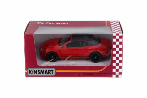 2010 Bentley Continental Supersports Convertible, Red - Kinsmart 5353WR - 1/38 Scale Diecast Toy Car