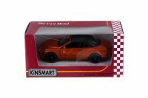 2010 Bentley Continental Supersports Convertible, Orange - Kinsmart 5353WOR - 1/38 Scale Diecast Toy Car