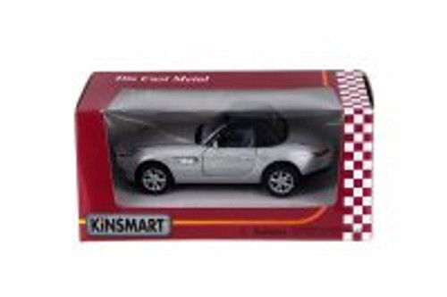 BMW Z8 Soft Top Convertible, Silver - Kinsmart 5022/2WSV - 1/36 Scale Diecast Model Toy Car