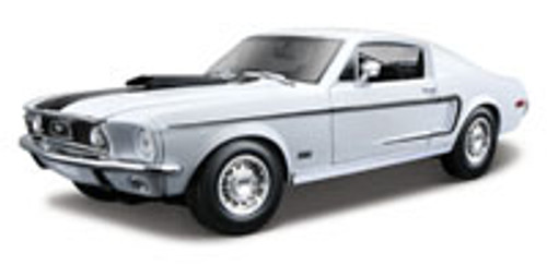 1968 Ford Mustang GT Cobra, White - Maisto 31167 - 1/18 Scale Diecast Model Toy Car