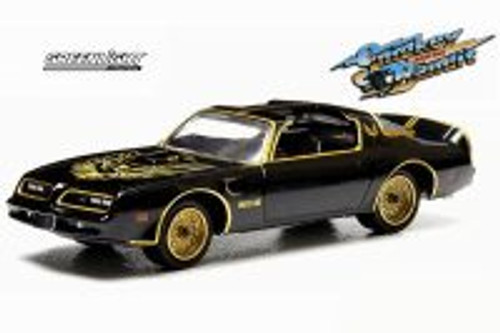 Smokey and the Bandit 1977 Pontiac Trans Am, Black - Greenlight 44710A - 1/64 Scale Diecast Model Toy Car
