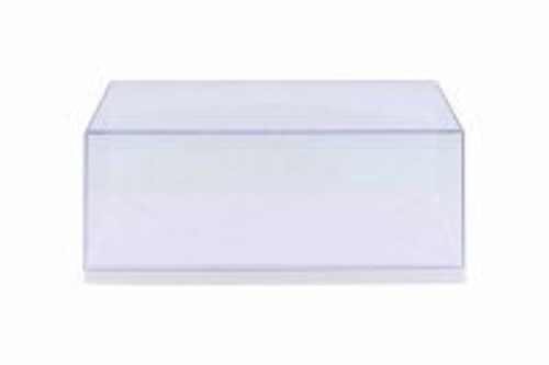 Acrylic Display Case (with 3 background designs), White Base - ModelToyCars 9906W - 1/24 Scale Accessory
