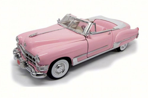 1949 Cadillac Coupe DeVille Convertible, Pink - Lucky 92308 - 1/18 Scale Diecast Model Toy Car