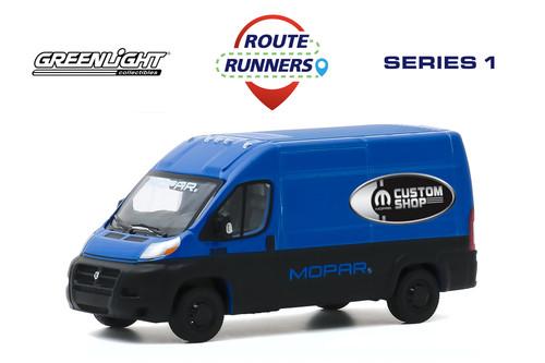 2018 Dodge Ram Promaster Cargo Van, Mopar Custom Shop - Greenlight 53010C/48 - 1/64 scale Diecast Model Toy Car