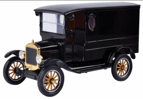 1925 Ford Model T Paddy Wagon, Black - Motormax 79316PTM - 1/24 Scale Diecast Model Toy Car