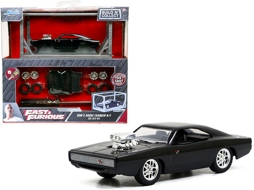 Dom's Dodge Charger R/T Build N' Collect Die -cast Model Kit, Fast &Furious - Jada Toys 31148 - 1/55 scale Diecast Model Toy Car