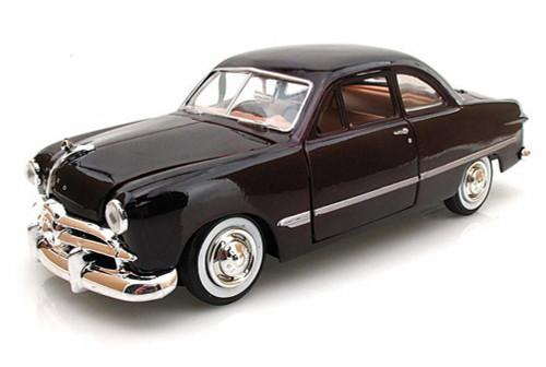 1949 Ford Coupe, Burgundy - Motormax Premium American 73213 - 1/24 Scale Diecast Model Car
