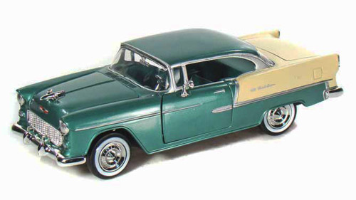 1955 Chevy Bel Air, Green - Motormax 73229 - 1/24 scale Diecast Model Toy Car