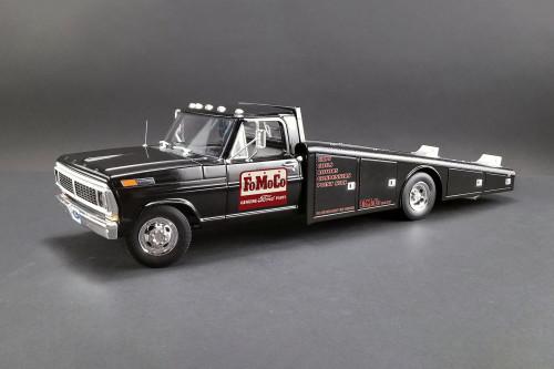 FoMoCo Parts 1970 Ford F-350 Ramp Truck, Black - Acme A1801408 - 1/18 scale Diecast Model Toy Car