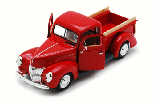 1940 Ford Pick Up truck, Red - Motor Max 73234 - 1/24 Scale Diecast Model Toy Car