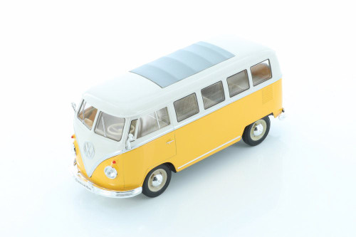 1963 Volkswagen T1 Bus, Yellow - Welly 22095/4D - 1/24 scale Diecast Model Toy Car