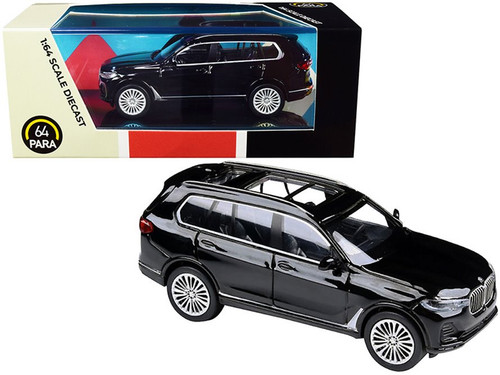2018 BMW X7 LHD, Black - Paragon PA55191BK - 1/64 scale Diecast Model Toy Car