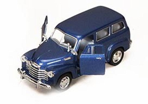 1950 Chevy Suburban, Blue - Kinsmart 5006D - 1/36 scale Diecast Model Toy Car (Brand New, but NOT IN BOX)