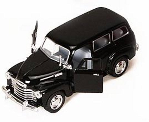 1950 Chevy Suburban, Black - Kinsmart 5006D - 1/36 scale Diecast Model Toy Car (Brand New, but NOT IN BOX)