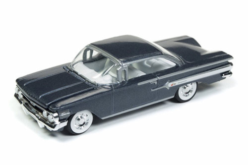 1960 Chevy Impala Hard Top, Shadow Gray Metallic - Round 2 RCSP003/24 - 1/64 Scale Diecast Model Toy Car
