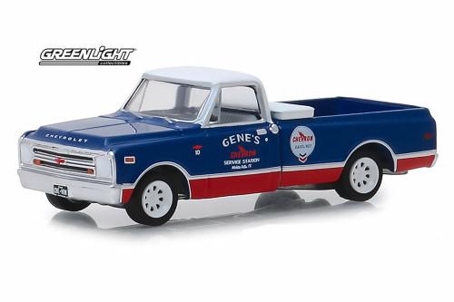 1968 Chevy C-10, Chevron Gasolines - Greenlight 41070/48 - 1/64 Scale Diecast Model Toy Car