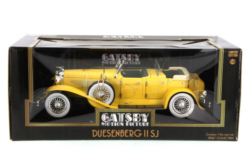 """1934 Duesenberg II SJ convertible from """"The Great Gatsby"""", Yellow - Greenlight 12927 - 1/18 Scale Diecast Model Toy Car"""