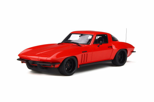 1965 Chevy Corvette C2 Hardtop, Red - GT Spirit GT266 - 1/18 scale Resin Model Toy Car