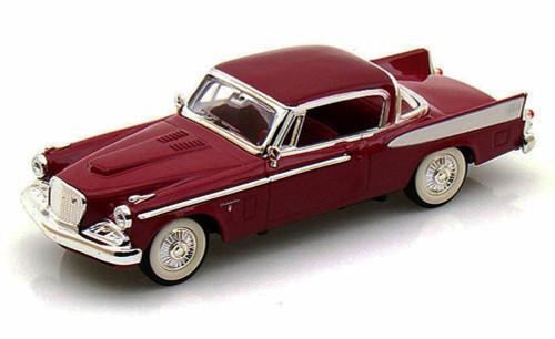 1958 Studebaker Golden Hawk, Claret - Yatming 94254 - 1/43 Scale Diecast Model Toy Car