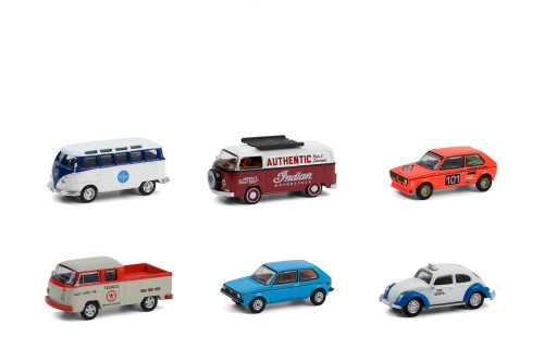 Greenlight Club Vee-Dub Series 12 Diecast Car Set - Box of 6 assorted 1/64 scale Diecast Model Cars