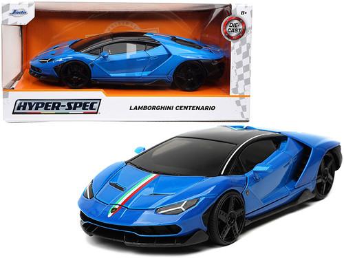 Lamborghini Centenario, Blue - Jada Toys 32714 - 1/24 scale Diecast Model Toy Car