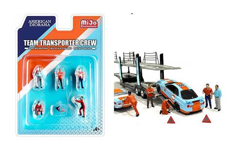 Team Transporter Crew, Multi - American Diorama 76463MJ - 1/64 scale Figurine - Diorama Accessory