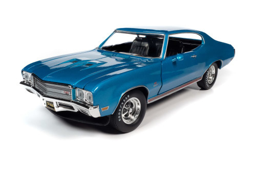1971 Buick GS Stage 1, Stratomist Blue - Auto World AMM1257 - 1/18 scale Diecast Model Toy Car