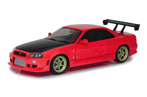 1999 Nissan Skyline GT-R R34, Red and Black - Greenlight 19052 - 1/18 scale Diecast Model Toy Car