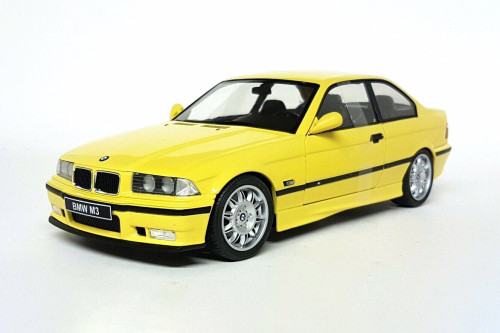 1990 BMW E30 Coupe M3, Yellow - Solido S1803902 - 1/18 scale Diecast Model Toy Car