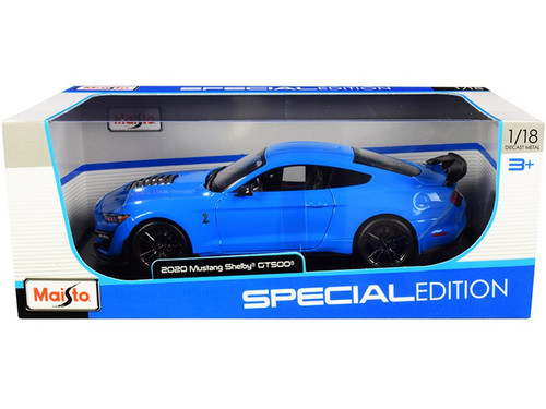 2020 Ford Mustang Shelby GT500, Blue - Maisto 31452BU/6 - 1/18 scale Diecast Model Toy Car