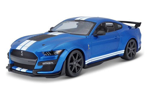 2020 Ford Mustang Shelby GT500, Blue - Maisto 31388BU - 1/18 scale Diecast Model Toy Car