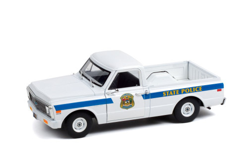 Delaware State Police 1972 Chevy C-10, White - Greenlight 85531/12 - 1/24 scale Diecast Model Toy Car