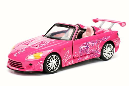 2001 Suki's Honda S2000 Convertible F8 Fate of Furious, Pink - Jada 97610 - 1/32 Scale Diecast Model Toy Car