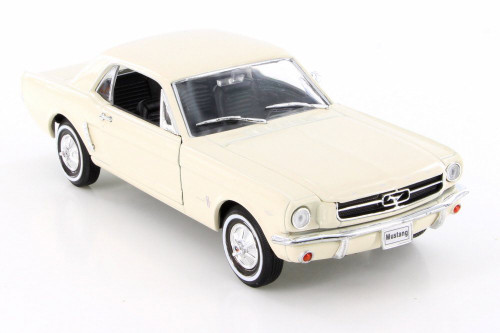 1964 Ford Mustang Coupe (1964.5), Cream White - Welly 22451/4D - 1/24 Scale Diecast Model Toy Car