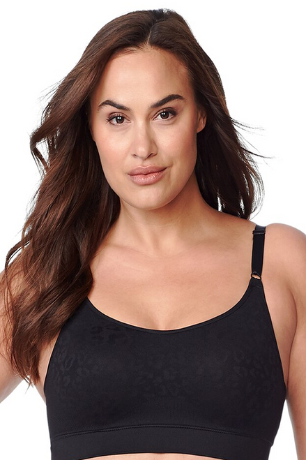 Olga Easy Does It Jacquard Wirefree Knit Seamless Stretch Contour Bralette GM9401A