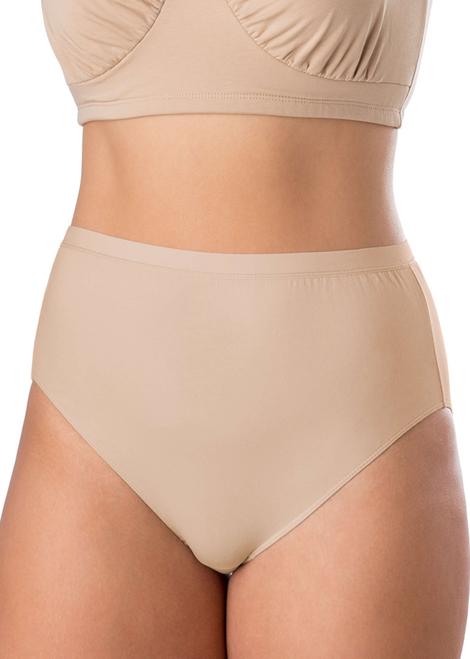 6043 Elita Plus Size Cotton Full Hi-Cut Brief | Shop Ntl.com