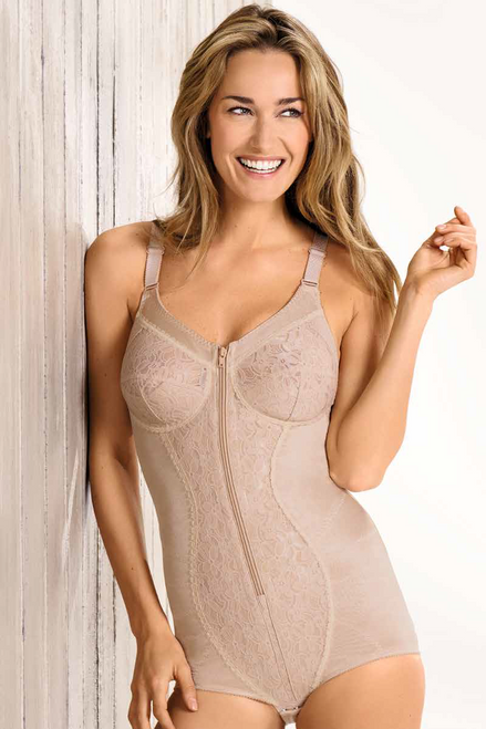 Naturana Fully Lined Lace Bodyshaper with Undercup Support and Zipper 3012