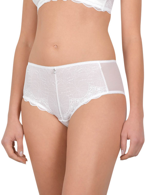 Semi-Sheer Mid-Rise Lace Panty (XS-3xl) By Cybele 11401
