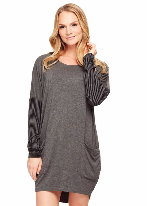Fleur't Casual Perfection Cocoon Long Sleeve Nightshirt 5366