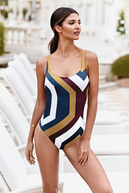 Eva Graphic Swimsuit